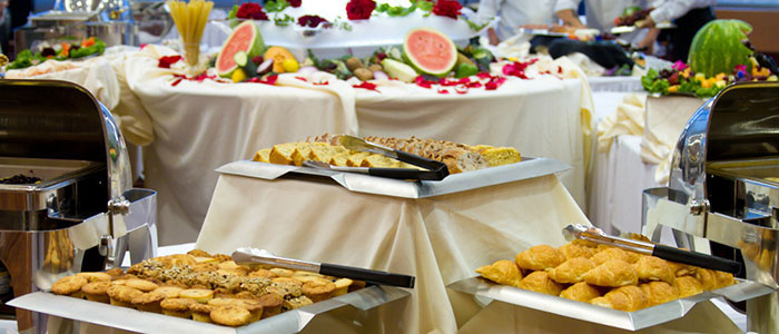 Table, food, banquet